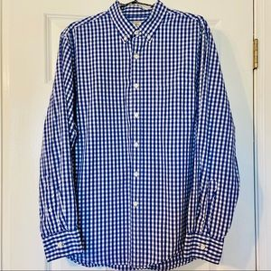 JCREW Tailored Men's Blue and White Collared Shirt